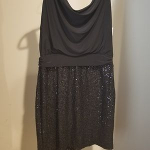 NWT Womens Bisou Bisou Little Black Dress 16